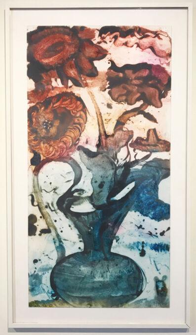 Catherine Howe, 'Reverse Carborundum Painting (Tagetes Sunset)', 2015