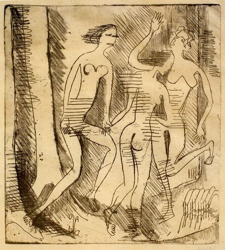 Ernst Ludwig Kirchner, 'Drei Nackte Tänzerinnen im Walde (Three Nude Dancers in the Forest)', 1935