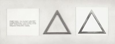 Martí Cormand, 'Formalizing their concept: Joseph Kosuth's 'One and three triangles, 1965'', 2014