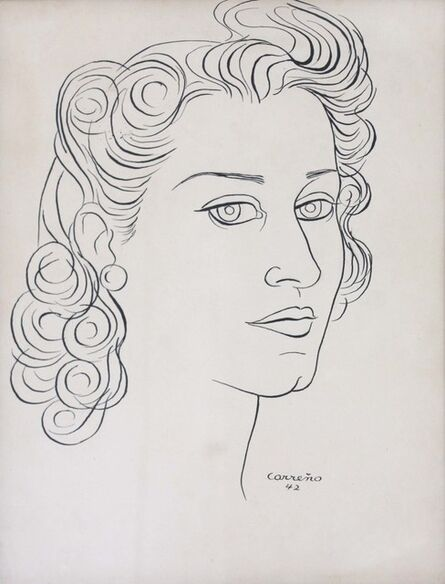 Mario Carreño, 'Portrait of Lydia de Rivera', 1942