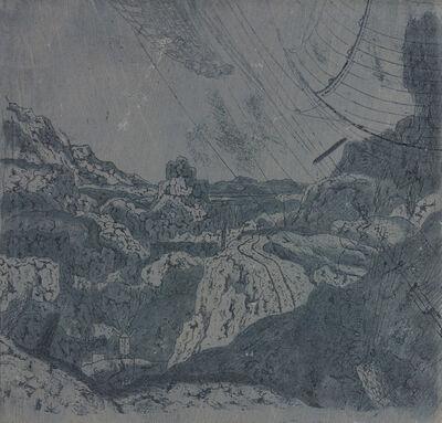 Hercules Segers, 'Landschaft (mit der Schiffstakelage)'