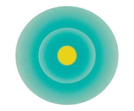 Ruth Adler, 'Turquoise Green Circle with Yellow Centre', 2020