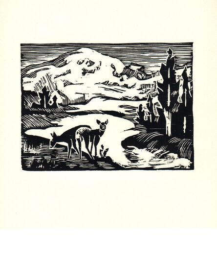 Ella Sophonisba Hergesheimer, 'Mount Rainier', 1939