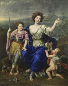 Pierre Mignard I, 'The Marquise de Seignelay and Two of her Sons', 1691