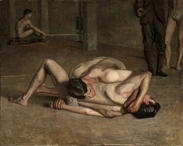 Thomas Eakins, 'Wrestlers', 1899