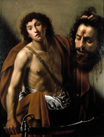 Giuseppe Vermiglio, 'David with the head of Goliath', Early 1620s