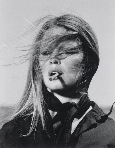 Terry O'Neill, 'Co Signed Brigitte Bardot smoking cigar', 1971