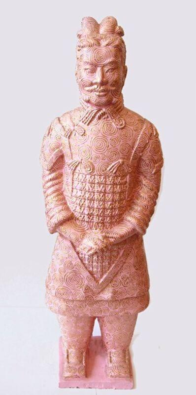 Fenghua Liu, 'Terracotta Warrior - Pink & Gold', ca. 2008