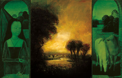 David Bierk, 'Eulogy for a Planet, Solitary River, to Van Eyck', 1999