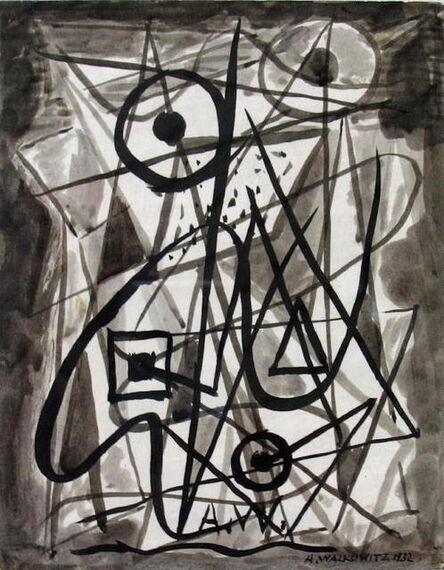 Abraham Walkowitz, 'Untitled Abstraction', 1936