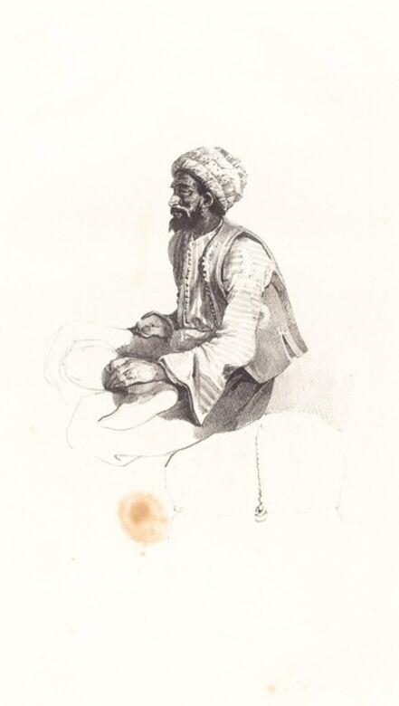 Nicolas-Toussaint Charlet, 'Seated Turk', 1825