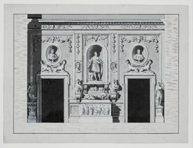 Antonio Asprucci, '[Elevation for the Stanza del Sole]', 1775-1820