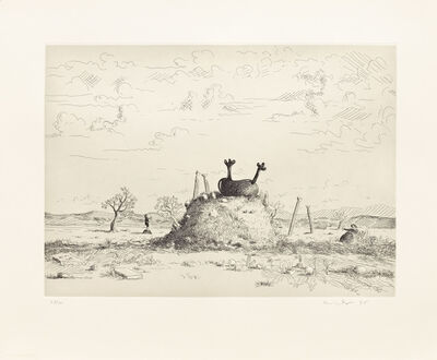 George Condo, 'Untitled (Landscape)', 1995