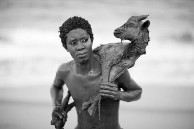 Mário Macilau, 'Boy with goat', 2018