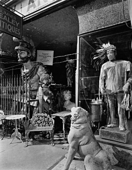 Berenice Abbott, 'Sumner Healey Antique Shop, 942 Third Avenue and 57th Street, Manhattan', 1937