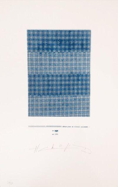 Henri Chopin, 'Zéros pour un vitrail puissant', 1992