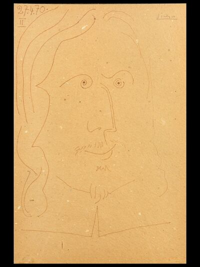 Pablo Picasso, 'Tete d´homme/Dated and numbered', 1970
