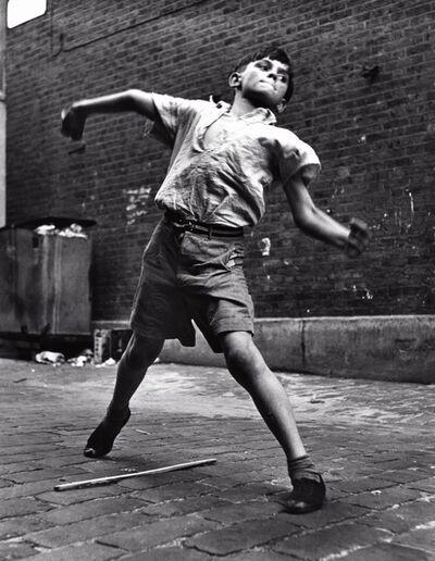 Roger Mayne, 'Bowler, Street cricket, Addison Place, N. Kensington', 1957-printed 1999