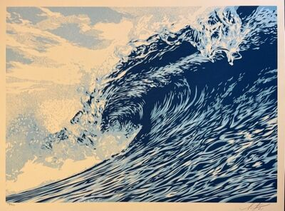 """Shepard Fairey, 'Wave Of Distress Shepard Fairey Print Obey Giant """"World Water Day""""', 2021"""