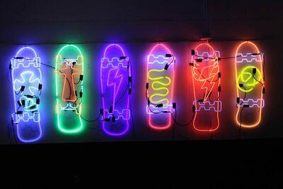 Alê Jordão, 'Skates neon at NEGA _ NEON GALLERY', 2018