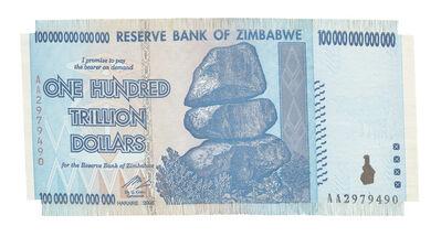 Dan Halter, 'Z$100-Trillion', 2017