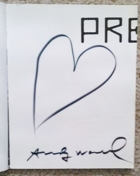 """Andy Warhol, '""""AMERICA"""" 2-Editions Signed, Heart Drawing ', ca. 1980"""