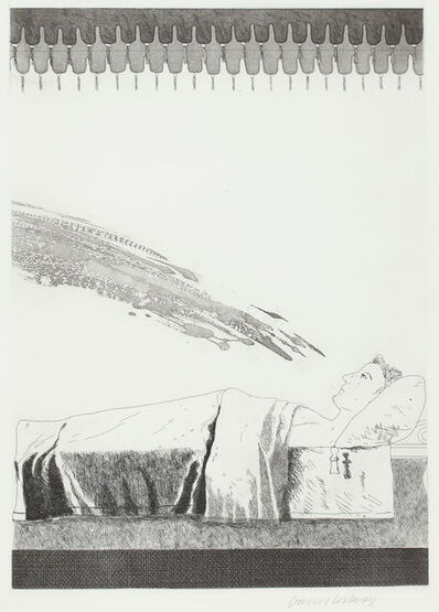 David Hockney, 'Cold Water About to Hit the Prince', 1969
