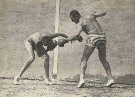 Jacques-Henri Lartigue, 'Moi et Sala, boxe, Rouzat ', 1922