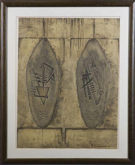 Arnaldo Pomodoro, 'Due scudi', 1998