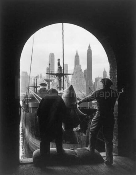 Andreas Feininger, 'Unloading Coffee at Brooklyn Dock, New York', ca. 1946