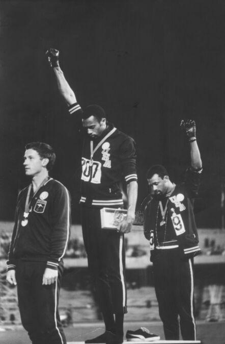 John Dominis, '1968 Olympics Black Power Salute, Mexico City, Mexico', 1968