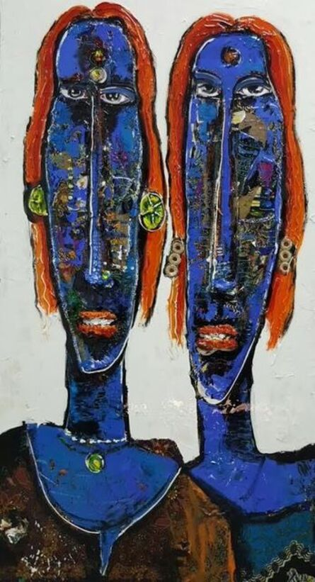 P Gnana, 'Double Alaghi', 2016