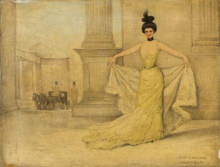 Jan Van Beers, 'Woman in Evening Dress', after 1882