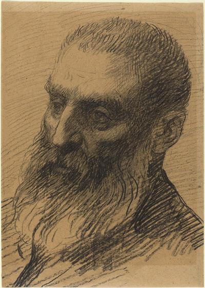 Alphonse Legros, 'Head of a Man Facing Left'