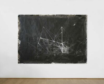 János Megyik, 'Photogram of the 'Hommage à Pascal' (1981) Larch Stick Construct I', 1982