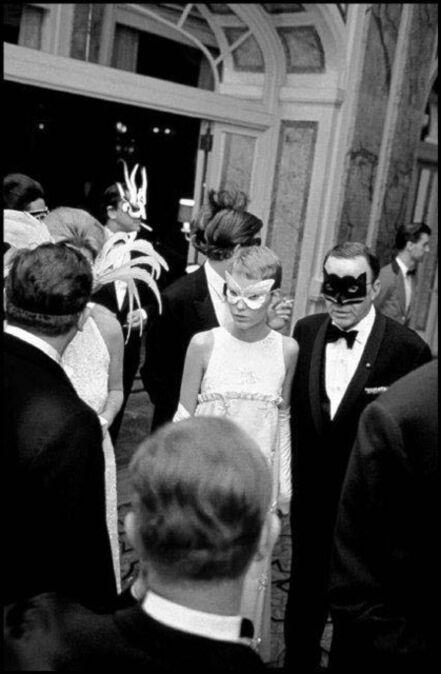 Elliott Erwitt, 'Mia Farrow and Frank Sinatra at Truman Capote's Black White Ball, New York City', 1966