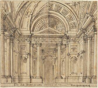 Fabrizio Galliari, 'Design for Entrance to a Hall'