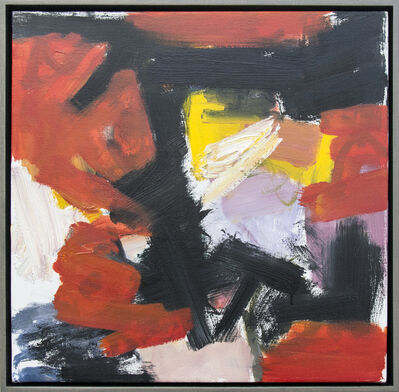 Scott Pattinson, 'Kairoi No 17 - small, vibrant, red, yellow, gestural, abstract, oil on canvas', 2016