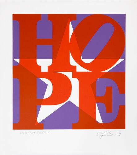 Robert Indiana, 'STAR of HOPE (Red/ Purple/ White)', 2013