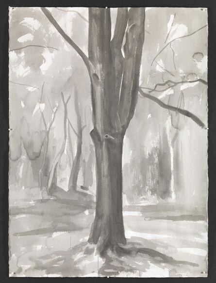 George Shaw (b. 1966), 'Study for Hanging Around I ', 2015