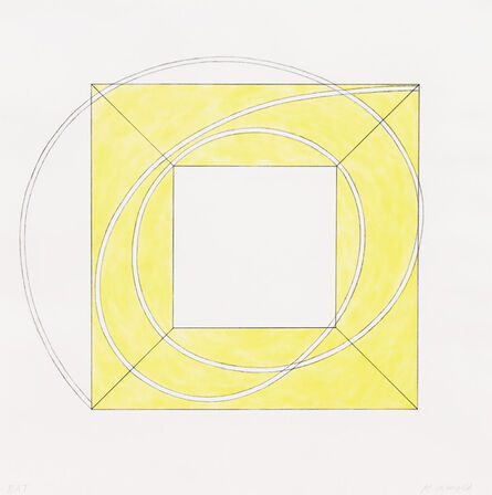 Robert Mangold (b. 1937), 'Framed Square with Open Center A', 2013