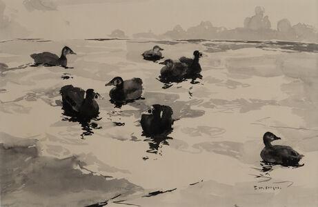 Frank Weston Benson, 'Scoter Ducks on the Water', 19th -20th Century