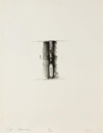 Jim Dine, 'Ten Winter Tools (Fork)', 1973