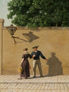 Christoffer Wilhelm Eckersberg, 'A Sailor taking Leave of His Girlfriend', 1840