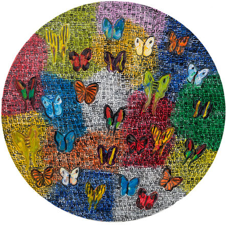 Hunt Slonem, 'Guardians & Butterflies', 2021