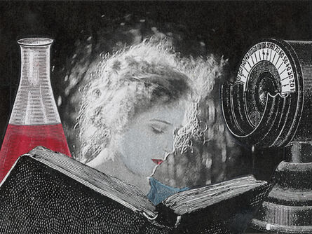 Stacey Steers, 'Edge of Alchemy Ed. 10 (woman reading, beaker)'