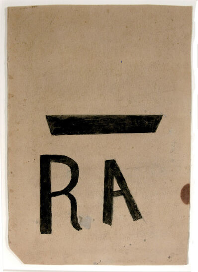 Bill Traylor, 'RA Poster (Resettlement Administration)', 1939-1942