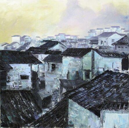 Zhang Shengzan 张胜赞, 'Town in dawn', 2003
