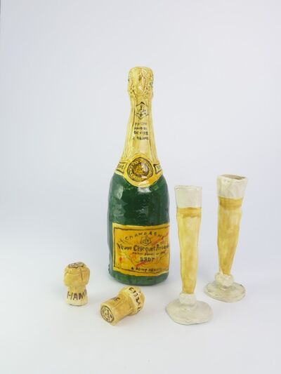 Rose Eken, 'Champagne with Glasses and Corks', 2015