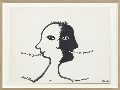 Ben Vautier, 'ce n'est jamais tout blanc ou tout noire', 1980